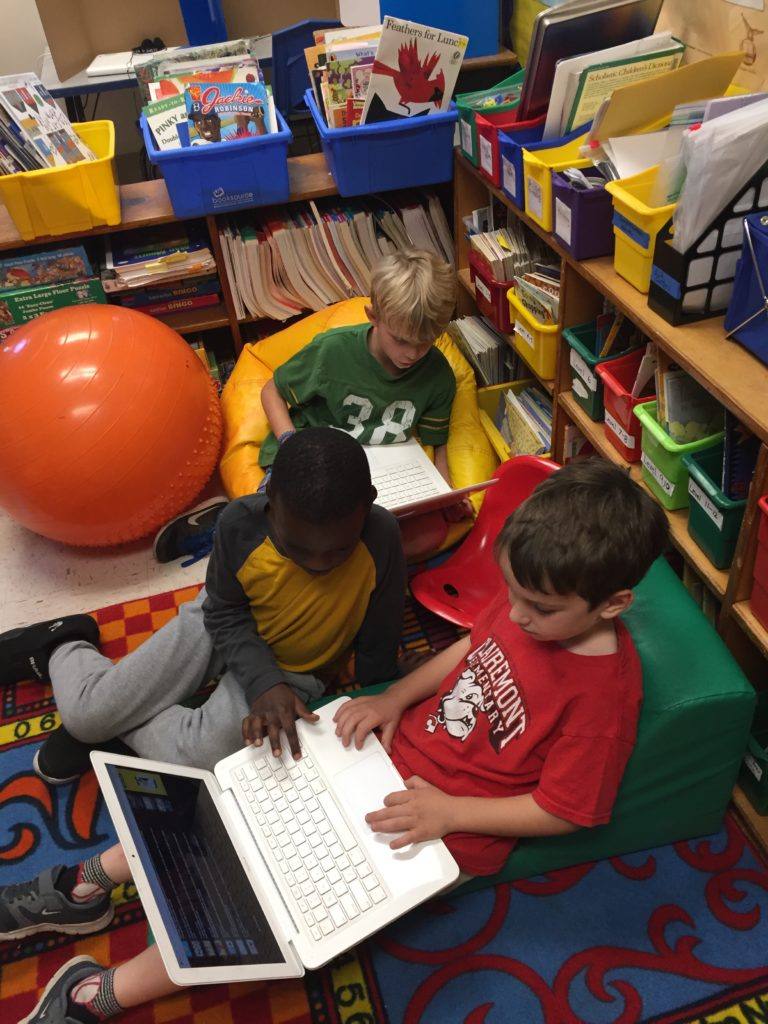 alternative seating at Clairemont Elementary
